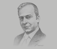 Sketch of Stefano Mocci, Country Manager for Papua New Guinea, World Bank