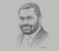 Sketch of Robert Nilkare, President, Business Council of Papua New Guinea