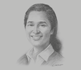 Sketch of Stacey O'Nea, CEO, Port Moresby Chamber of Commerce and Industry (POMCCI)