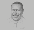 Sketch of Jerry Garry, Managing Director, Mineral Resources Authority (MRA)