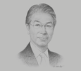 Sketch of Hiroshi Hosoi, CEO, JX Nippon Oil & Gas Exploration Corporation