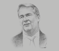 Sketch of Alan Milne, Managing Director, Air Niugini