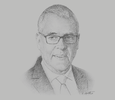 Sketch of Stan Joyce, Former Managing Director, South Pacific Brewery