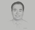 Sketch of Nathaniel Ho, Executive Director, Rimbunan Hijau Group