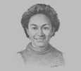 Sketch of Eunice Parua, Partner, Leahy Lewin Lowing Sullivan Lawyers