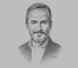 Sketch of Desmond Mullarkey, President, SAP México