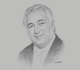 Sketch of Miguel Torruco Marqués, Minister of Tourism