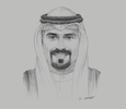 Sketch of Kuwait Direct Investment Promotion Authority Sheikh Meshaal Jaber Al Sabah, Director-General, Kuwait Direct Investment Promotion Authority (KDIPA)