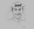 Sketch of Meshal Alothman, Director-General, Public Institution for Social Security (PIFSS)