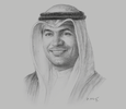 Sketch of Mohammad Y Al Hashel, Governor, Central Bank of Kuwait