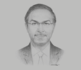 Sketch of Saud Al Naki, Vice-Chairman, Public Authority for Roads and Transportation (PART)