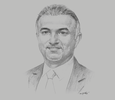 Sketch of Abdulkarim Taqi, Director-General, Public Authority for Industry (PAI)
