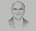 Sketch of Ahmed Barakat, Managing Partner, ASAR – Al Ruwayeh & Partners