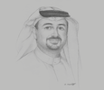 Sketch of Najeeb Mohammed Al-Ali, Executive Director, Expo 2020 Dubai Bureau
