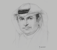 Sketch of Sami Al Qamzi, Director-General, Department of Economic Development