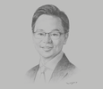 Sketch of Melvyn Pun, CEO, Yoma Strategic Holdings