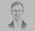 Sketch of Nick O'Donohoe, CEO, CDC Group