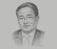 Sketch of U Than Myint, Minister of Commerce