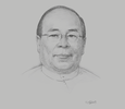 Sketch of U Thaung Tun, Chairman, Myanmar Investment Commission; and Minister of Investment and Foreign Economic Relations