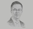 Sketch of Christopher Loh, CEO, uab bank