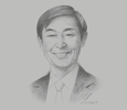Sketch of Shinichi Kitaoka, President, Japan International Cooperation Agency (JICA)