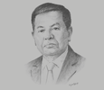 Sketch of U Tin Win, Country Managing Partner, EY Myanmar