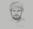 Sketch of Qais Mohammed Al Yousef, Chairman, Oman Chamber of Commerce and Industry (OCCI)