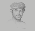 Sketch of Azzan Al Busaidi, CEO, Public Authority for Investment Promotion and Export Development (Ithraa)