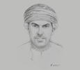 Sketch of Sheikh Aimen Al Hosni, CEO, Oman Airports