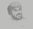 Sketch of Abdulrahman Al Hatmi, CEO, Oman Global Logistics Group (ASYAD)