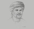 Sketch of Saleh Mohammed Al Shanfari, CEO, Oman Food Investment Holding Company (OFIC)