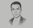 Sketch of Ben Ewing, Partner, CMS Oman