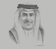 Sketch of Kamal bin Ahmed Mohammed, Minister of Transportation and Telecommunications
