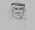 Sketch of  Zayed bin Rashid Alzayani, Minister of Industry, Commerce and Tourism