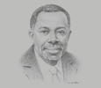 Sketch of K Y Amoako, President, African Centre for Economic Transformation