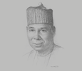 Sketch of Tijjani Muhammad-Bande, President, UN General Assembly