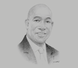 Sketch of Prime Minister Keith Rowley
