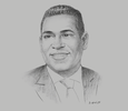 Sketch of Gregory Hill, Managing Director, ANSA Merchant Bank