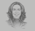 Sketch of Souad Benbachir, Partner and Executive Managing Director, CFG Bank