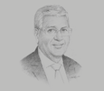 Sketch of Mohammed Amal Guedira, Founder and CEO, Automotive Moroccan Group Business and Consulting