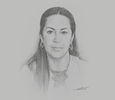 Sketch of Nouzha Bouchareb, Minister of National Planning, Urban Planning, Housing and Urban Policy