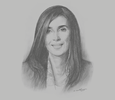 Sketch of Nadia Fettah Alaoui, Minister of Tourism, Air Transport, Handicrafts and Social Economy