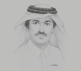 Sketch of Ahmad Al Sayed, Minister of State; and Chairman, Qatar Free Zones Authority (QFZA)