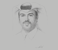 Sketch of Abdulla Mubarak Al Khalifa, Group CEO, Qatar National Bank