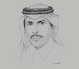 Sketch of Sheikh Abdulla bin Saoud Al Thani, Governor, Qatar Central Bank (QCB)