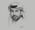 Sketch of Rashid bin Ali Al Mansoori, CEO, Qatar Stock Exchange (QSE)
