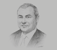 Sketch of Bassel Gamal, Group CEO, Qatar Islamic Bank