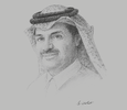 Sketch of Khalid bin Khalifa Al Thani, CEO, Qatargas