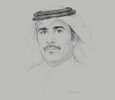 Sketch of Essa bin Hilal Al Kuwari, President, Qatar General Electricity and Water Corporation (Kahramaa)