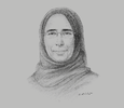 Sketch of Hanan Mohamed Al Kuwari, Minister of Public Health; and Managing Director, Hamad Medical Corporation (HMC)
